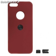 Magnetic car phone holder Iphone 5 5s burgundy red hard
