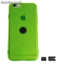 Magnetic car phone holder Iphone 6 transparent green flex
