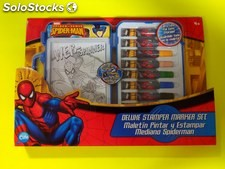 Maletin pintar y estampar spiderman 27 piezas