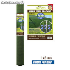 Malla verde pro-wind (1X8M) - little garden - 8433774603740 - BY01090660374