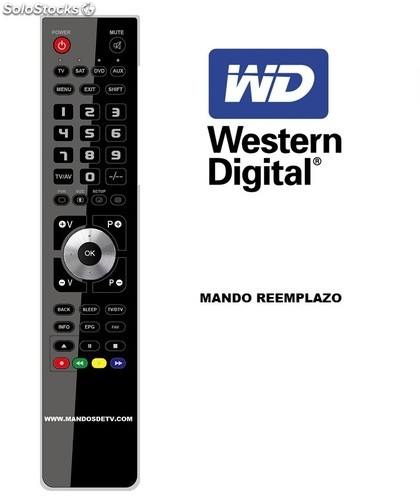 Mando DVD/hdd western digital hd live wd tv