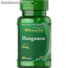 Manganeso 50MG 100 tabletas puritan pride