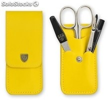 Manicureset Yellow Cowhide Leather