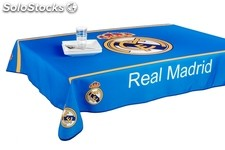 Mantel antimanchas Oficial del Real Madrid de 240x148cm