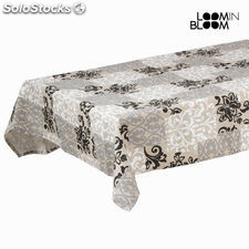 Mantel damasco gris by Loom In Bloom