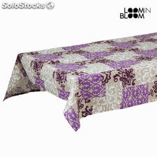 Mantel damasco morado by Loom In Bloom