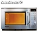 Manual microwave oven - stainles ssteel - mod. r2am - ceramic plate - dual