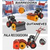 Máquina quitanieves 3 en 1 arranque cuerda - sweeper 4.8 kw / 6,5 cv