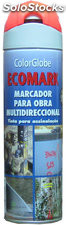 Marcador en spray Ecomark rojo fluor 500 ml