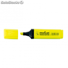 Marcador fluorescente molin rectangular amarillo
