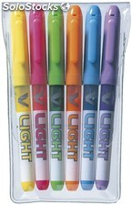 Marcadores Fluorescentes PILOT V-Liquid Light 6 Colores