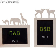 Marco 10X15CM rectangular animales - surtidos - b and b - 8430026463954 - 56644