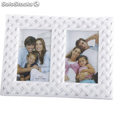 Marco doble 10X15 blanco - b and b - 8430026910052 - 57645