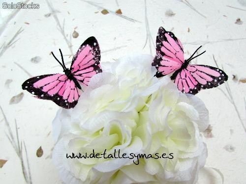 mariposas de pluma decorativas en rosa set de mariposas para decoracin