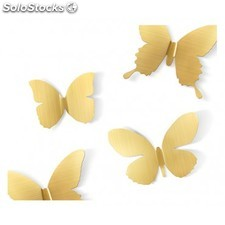 MARIPOSAS metalicas 3D para decoración de pared. UMBRA Flitterby wall decor -