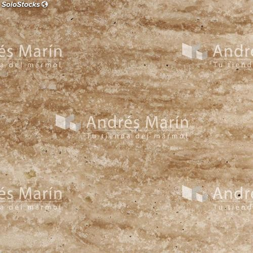 Marmol travertino espa ol resina transparente 60x30x2 pulido for Marmol travertino pulido
