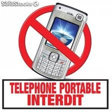 Marquage telephone portable interdit sol