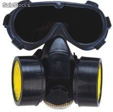 Mascara de gas con gas mask y respirator full face gas mask