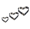 Mason cash mc set of 3 heart mini fondant cutters