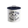 Mason cash mc varsity cookie tin with 3 cutters & apron