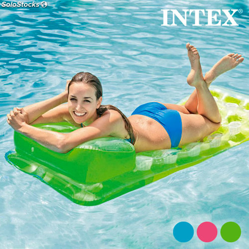 matelas gonflable avec repose t te intex. Black Bedroom Furniture Sets. Home Design Ideas