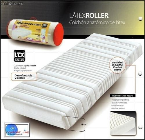 matelas latex naturel ltx roller 140x190. Black Bedroom Furniture Sets. Home Design Ideas