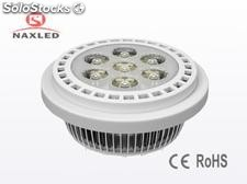 Matt white ar111 (g53 bae) 7w led spotlight bulb