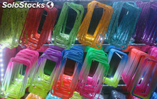 mayorista iphone 4s/5/5c/5s/6/6 Plus Colorful/Bi-color transparent Bumper casos
