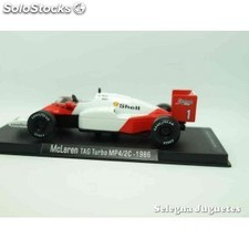 Mclaren tag turbo mp4/2c 1986 (vitrina defecto) f1 1/43 rba coche a