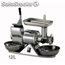 Meat mincer and grater 12/l (luxury) - stainless steel mincing set - three phase