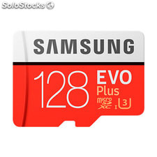Mem micro sd 128GB samsung evo+ CL10 + adapt sd
