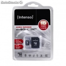 Mem micro sd 16GB intenso CL10 + adapt sd PGK02-990200051