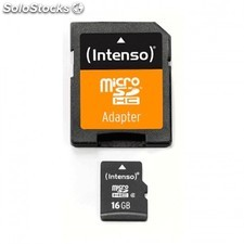 Mem micro sd 16GB intenso CL4 + adapt sd PGK02-A0012817