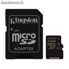 Mem micro sd 64GB kingston CL10 uhs-i(U1)0 sd