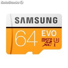 Mem micro sd 64GB samsung evo CL10 + adapt sd PGK02-A0014842
