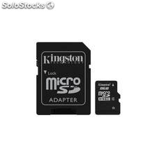 Mem micro sd 8GB sdhc kingston clase 4 adapt sd