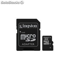 Mem micro sdhc 8GB kingston CL4 + adapt