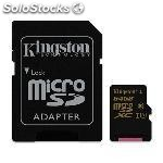 Mem microsd gold 64GB kingston uhs-i CL3(U3)+adapt