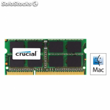 Memoria crucial 4gb - ddr3-1066 - pc3 8500 - sodimm - cl7 - 204 pin