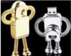 memoria flash usb robot de metal
