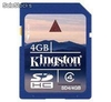 Memoria Kingston SD 4 GB SDHC CLASS 4 SD4/4GB