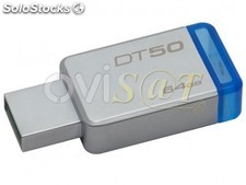 Memoria Kingston Technology Datatraveler 50 - unidad flash USB - 64 GB - USB 3.1