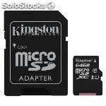 Memoria micro sd 64GB kingston SDC10G2/64GB clase 10 G2