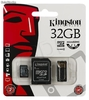 Memoria MicroSD 32gb con adaptador sd y usb Kingston