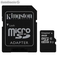 Memoria miscro SDHC Kingston 8Gb clase 10 G2 SDC10G2/8GB ( adaptador microsdhc a