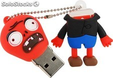 Memoria Mooster USB 8GB TOONS ugly red zombie mx 290