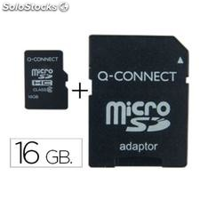 ✅ memoria sd micro q-connect flash 16 GB clase 6 con adaptador