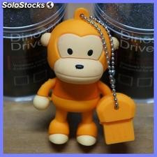 Memoria usb 8 GB dinosaur driver monkey brown pen drive usb 2.0 PENdrive