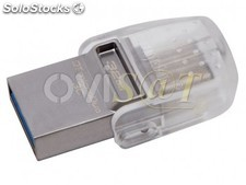 Memoria USB Kingston de 32 GB y doble interfaz (puertos USB tipo C y USB tipo A)