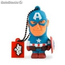 Memoria usb - Pendrive 8 GB 2.0 tribe marvel capitan america usb 2.0